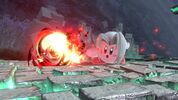 Kirby utilizing Sephiroth's Flare as his Copy ability from Super Smash Bros. Ultimate.