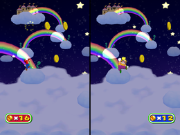 Cashapult at night from Mario Party 6