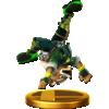 Fox's alternate trophy, from Super Smash Bros. for Wii U.