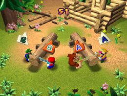 Looney Lumberjacks from Mario Party 2