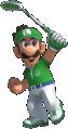 Artwork of Luigi in Mario Golf: Super Rush