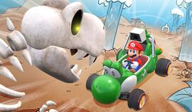 Fossil Fields course icon from Mario Kart Live: Home Circuit