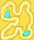 The map for Yoshi Desert