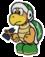 The Small Hammer Bro sprite from Paper Mario: Color Splash.