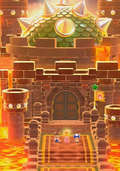 The map icon of Bowser's Lava Lake Keep
