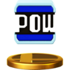 POW Block's trophy render from Super Smash Bros. for Wii U