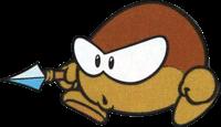 A Pirate Goom, as seen in Wario Land: Super Mario Land 3 artwork.