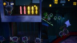 Be Afraid of the Dark, the first level of Shadowville in Yoshi's Crafted World.
