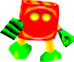 Mr. Dice in the game Donkey Kong 64.
