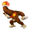 A sticker of DK