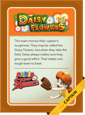 Level 3 Daisy Flowers card from the Mario Super Sluggers card game