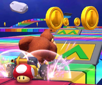 The icon of the Waluigi Cup challenge from the 2020 Halloween Tour in Mario Kart Tour