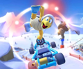 The icon of the Lakitu Cup challenge from the Mario vs. Peach Tour in Mario Kart Tour.