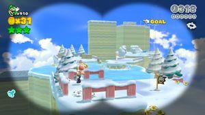 Hidden Luigi in Ty-Foo Flurries.