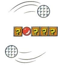 Super Mario Bros. 3 promotional artwork: Two Rotodiscs circling around.