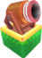 Rendered model of a cannon in Super Mario Galaxy.
