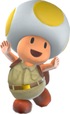Rendered Model of Yellow Toad in Super Mario Odyssey.
