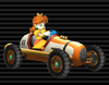 Daisy's Classic Dragster from Mario Kart Wii