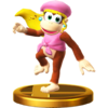 Dixie Kong trophy from Super Smash Bros. for Wii U