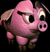 Hogwash the Flying Pig