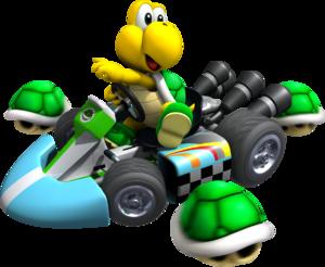 Artwork of Koopa Troopa, from Mario Kart Wii.