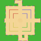 Unused tilemap of SNES Battle Course 1.