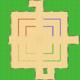 MKSC Unused SNES Battle Course 1 Map.png