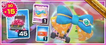 The Yukata Ribbon Pack from the Mario vs. Peach Tour in Mario Kart Tour
