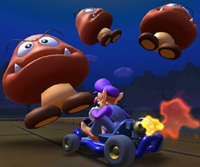The icon of the Dry Bones Cup's challenge from the London Tour and the King Boo Cup's challenge from the Marine Tour in Mario Kart Tour