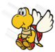 The Koopa Paratroopa 10-Stack sprite from Paper Mario: Color Splash.