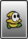 A Yellow Shy Guy card from Paper Mario: Color Splash