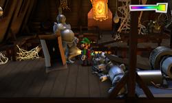 The Rafters segment from Luigi's Mansion: Dark Moon.