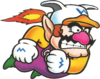 Artwork of Jet Wario, as seen in Wario Land: Super Mario Land 3.