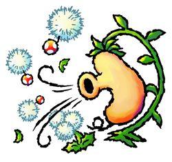 A Windbag blowing a Nipper Dandelion and spreading Nipper Spores.