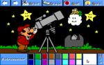 Mario as an astronomer.