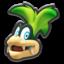 Iggy's head icon in Mario Kart 8
