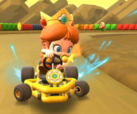 The icon of the Baby Luigi Cup challenge from the Marine Tour in Mario Kart Tour.