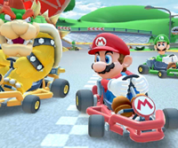 The icon of the Dry Bowser Cup challenge from the Pirate Tour in Mario Kart Tour.