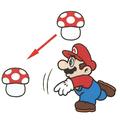 SMAS SMB2 Mario Throwing Mushroom.png
