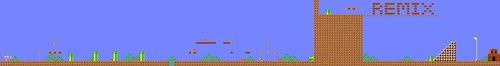 Layout of NES REMIX in Super Mario Maker.