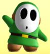 Green Shy Guy from Mario Super Sluggers