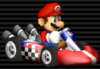 Mario in the Standard Kart M from Mario Kart Wii