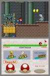 A Super Thwomp and a Super Dry bones attempt to trap Mario.