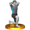 Wii Fit Trainer's alternate trophy, from Super Smash Bros. for Nintendo 3DS.