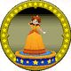 A figure with Princess Daisy on it.