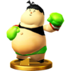 Little Mac (Captain Rainbow) trophy from Super Smash Bros. for Wii U