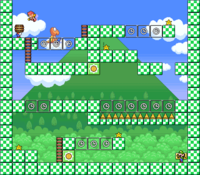 Level 3-1 map in the game Mario & Wario.