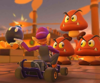 The icon of the Daisy Cup challenge from the Pirate Tour and the Toadette Cup challenge from the 2021 Los Angeles Tour in Mario Kart Tour.