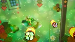Rough Rolling, the first level of Hidden Hills in Yoshi's Crafted World.