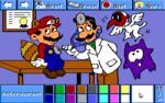 Luigi as a veterinarian.